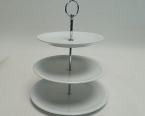 3 Tiered Porcelain Cake Stand 30cm