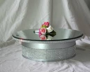 Silver/Diamante Cake Stand - Elevated 40cm