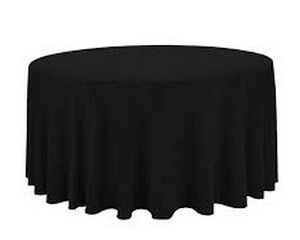 108'' Round  BLACK (5ft Round Table)