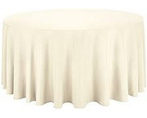 108'' Round  IVORY (5ft Round Table)